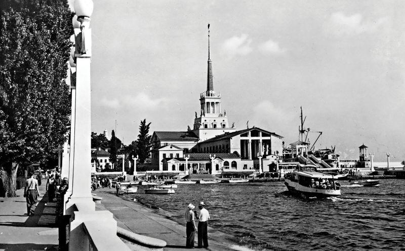 Морской вокзал, Сочи, Морской порт, старое фото