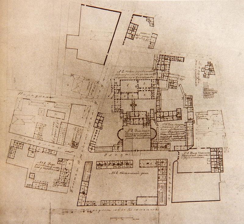 План Пречистенского дворца