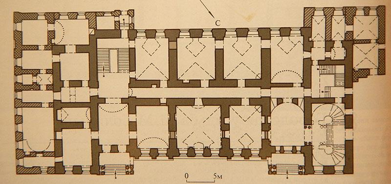 Городская усадьба Голицыных, План первого этажа