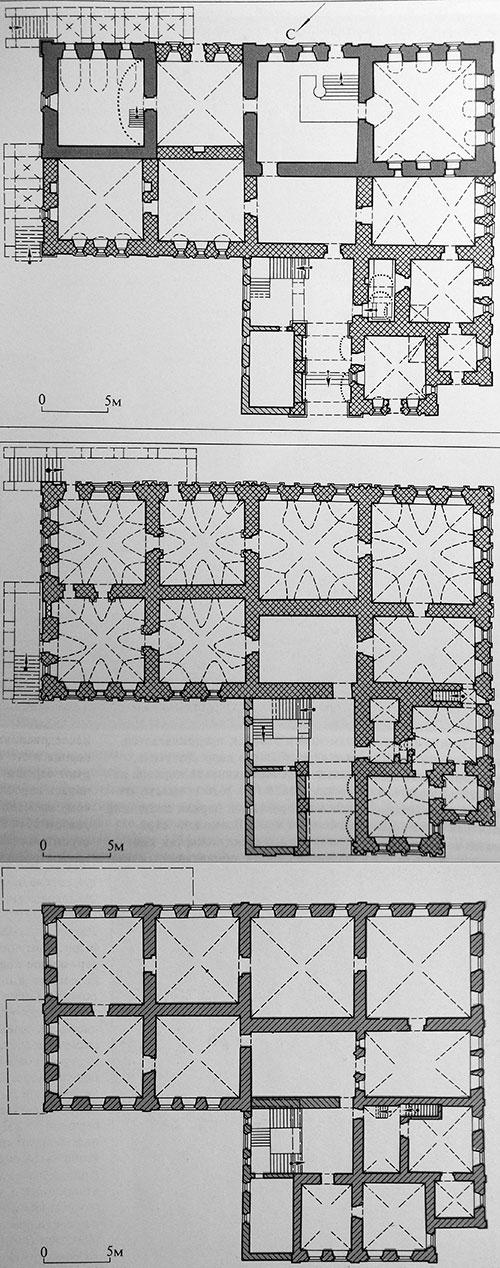 Палаты Троекуровых, план