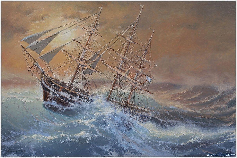 «Фрегат Аврора», картина Шиляева Валерия Ивановича