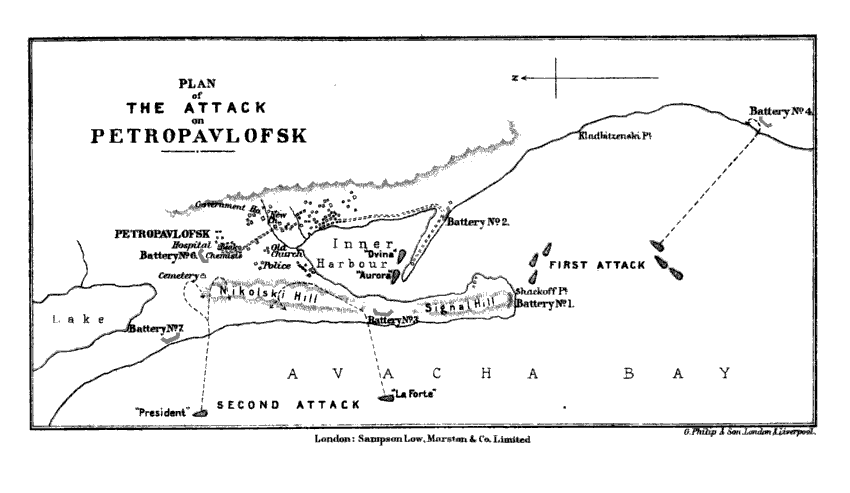 План атаки англо-французской экспедиции на Петропавловск-Камчатский, 1854