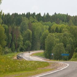 Трасса А-119 между Вологдой и Вытегрой