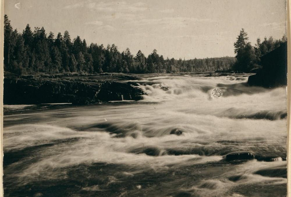 Старый водопад Гирвас, фотография С.Прокудина-Горского