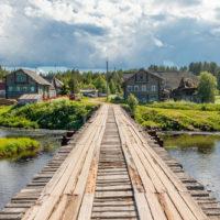Сказочно красивая деревня Пяльма на Онежском озере