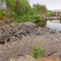 Вулкан Гирвас, Гирвасское водохранилище, река Суна и Пальеозёрская ГЭС