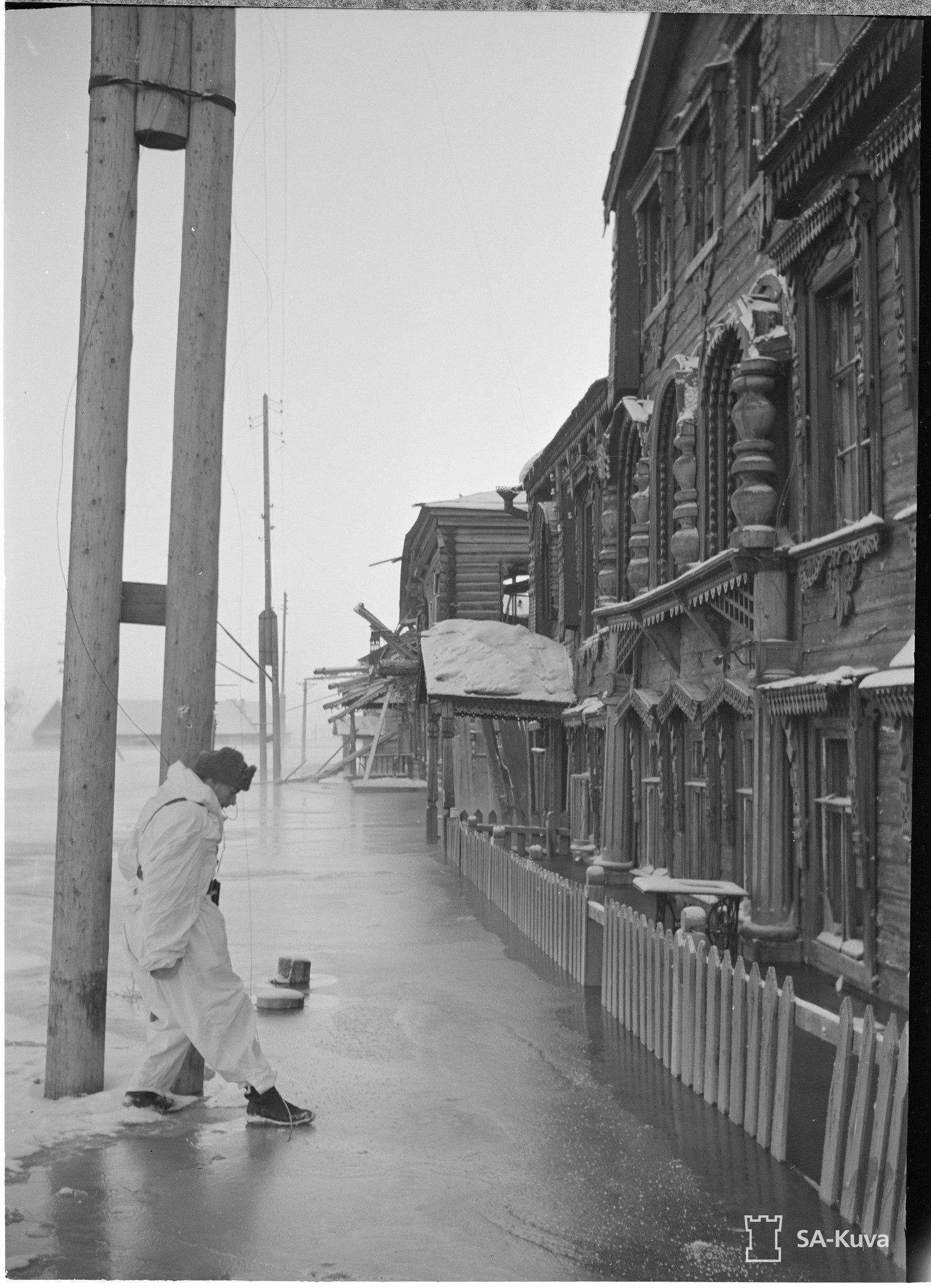 Затопленный после взрыва Южного участка ББК Повенец