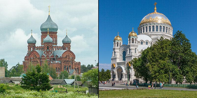 Даниловский Казанский женский монастырь на Горушке и Морской Никольский собор в Кронштадте