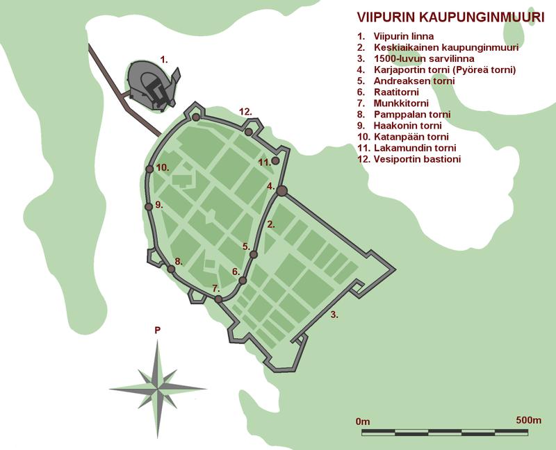 План Выборга, 1750 год