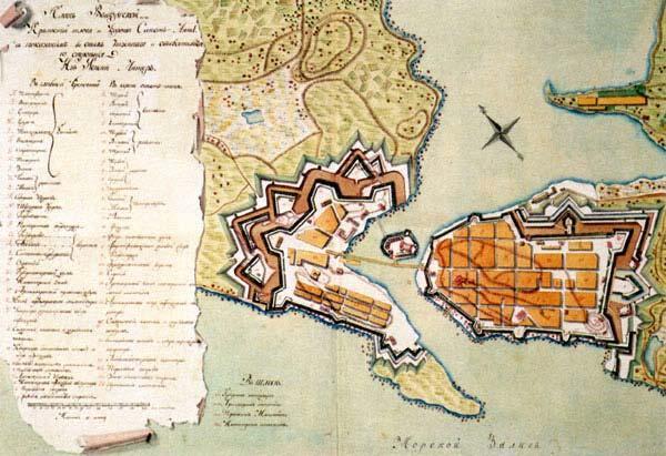 Выборгская крепость в середине XVIII века