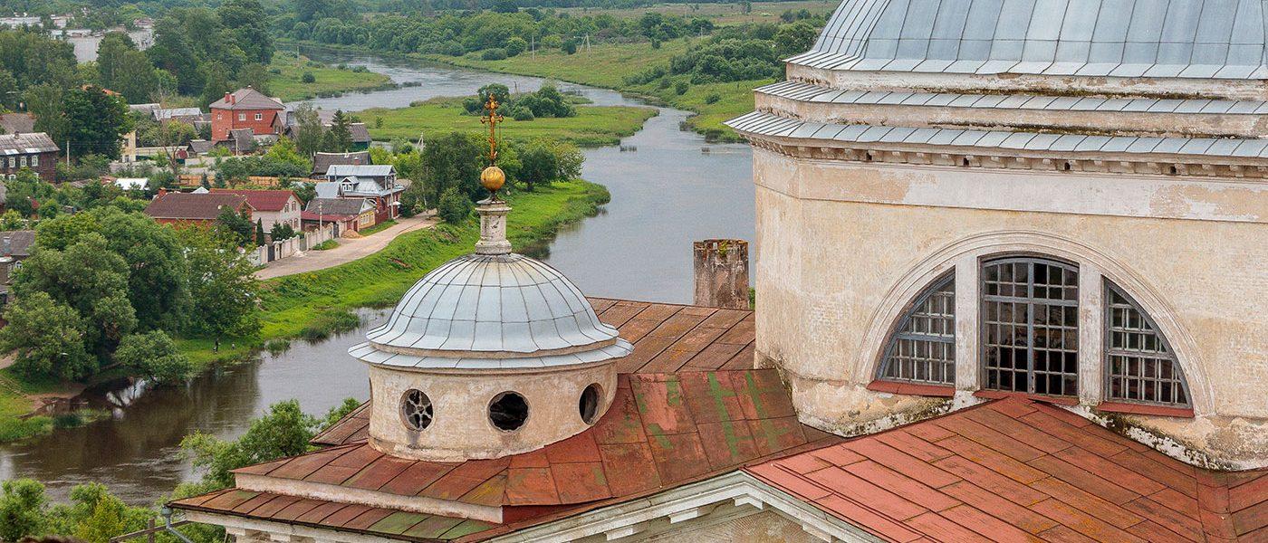 Новоторжский Борисоглебский монастырь и панорамы Торжка