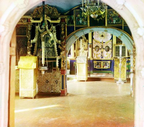 С. М. Прокудин-Горский. Иконостас церкви Тихвинской Божьей Матери. Лето 1910 года