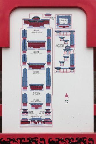 Схема Храма Большого Колокола (Дачжун-сы) в Пекине