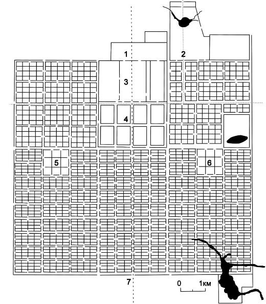 План города Чанъань в эпоху Тан.