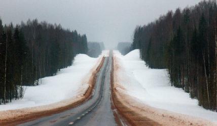 Зимняя дорога из Вологды в Вытегру (трасса А-119)