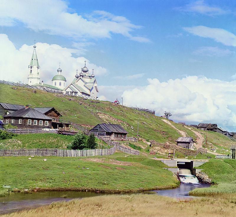 Церкви и водоспуск, Девятины, Прокудин-Горский