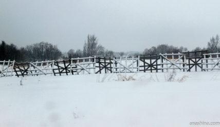 Дорога из Вытегры в Череповец зимой