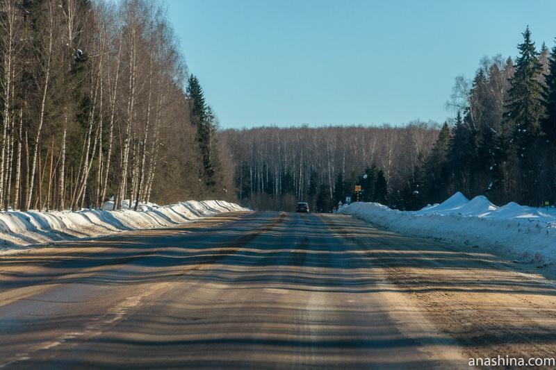 Дорога между Костромой и Судиславлем