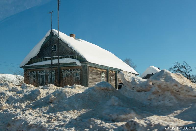 Дом с красивыми наличниками, Костромская область