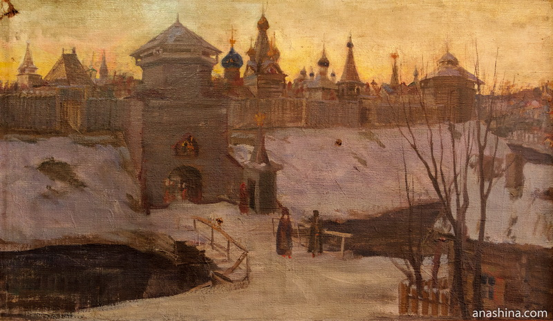 Галич в XVI веке. Картина С.А.Власова, Галичский краеведческий музей