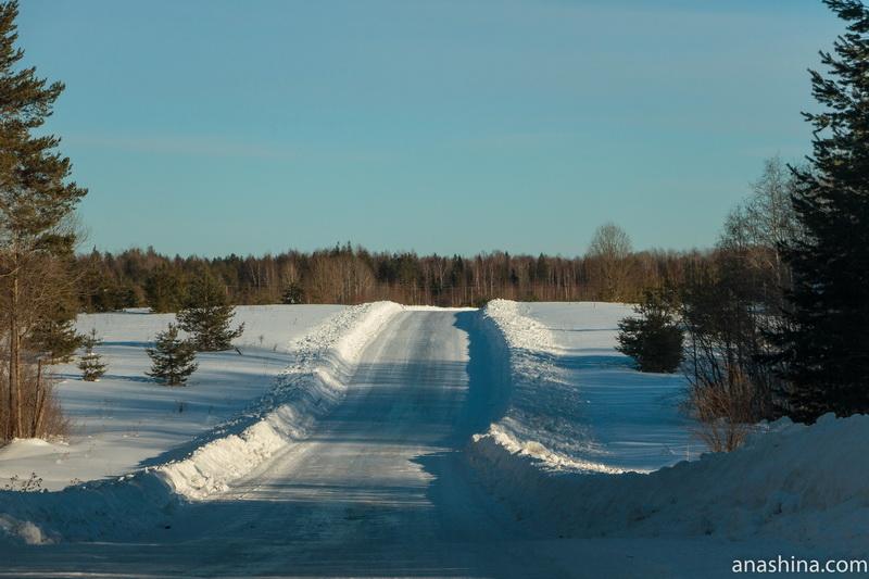 Дорога через поле, Костромская область