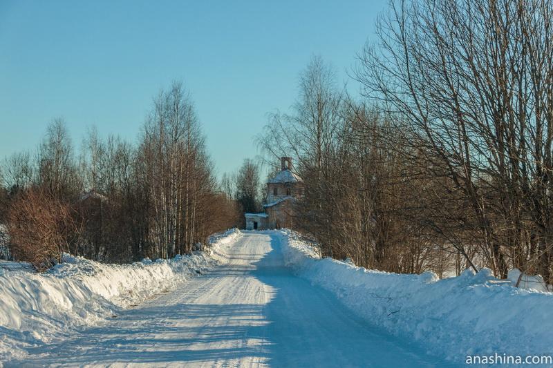 Заброшенный храм Илии Пророка в Фалилеево, Костромская область