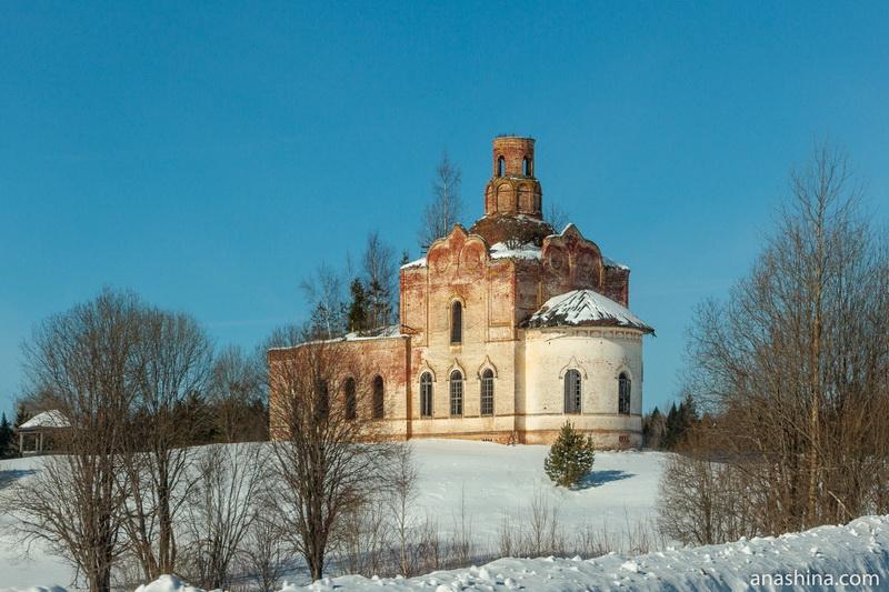 Церковь Алексия, человека Божия в Игошево, дорога Солигалич - Тотьма