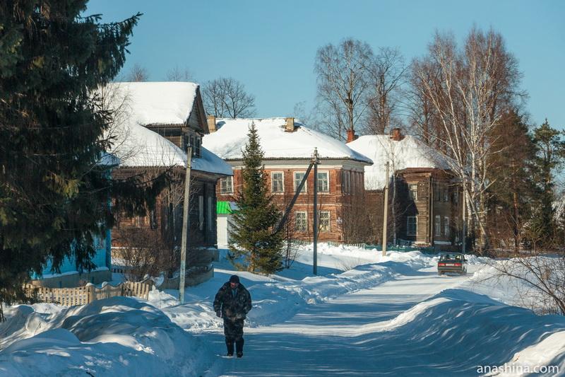 Улица Николая Рубцова в селе Никольском, Вологодская область