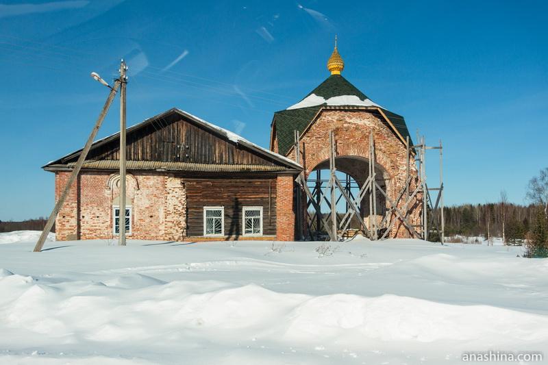 Церковь Николая Чудотворца, село Никольское, Вологодская область
