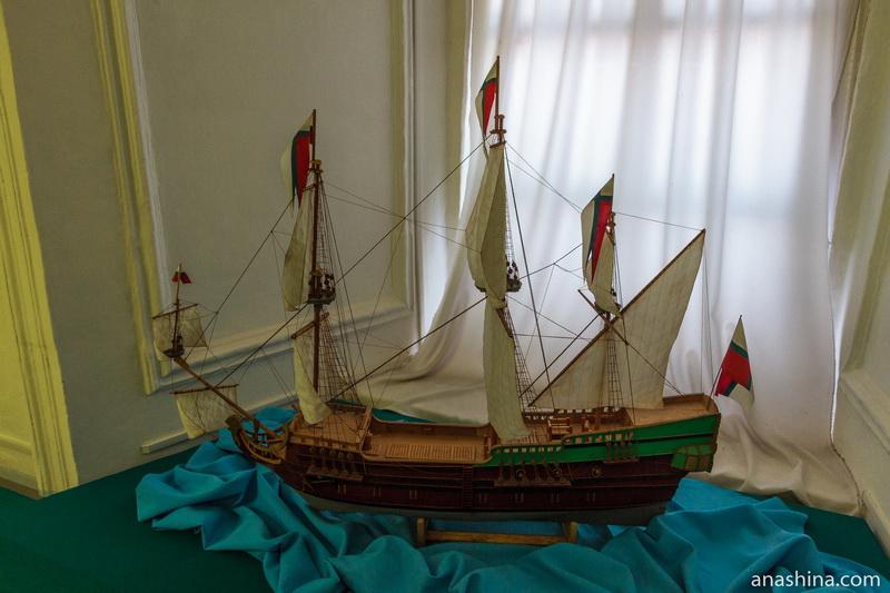 Модель парусника, Музей мореходов в Тотьме