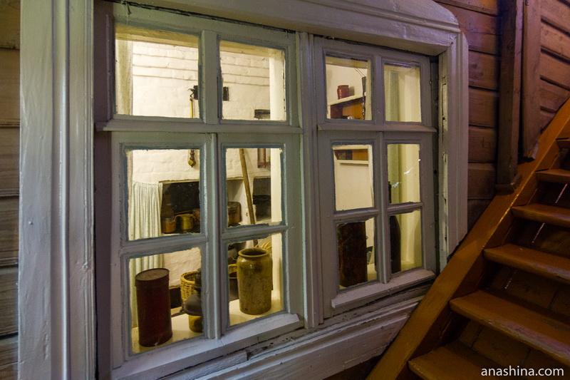 Окно кухни, дом Циолковского, Калуга