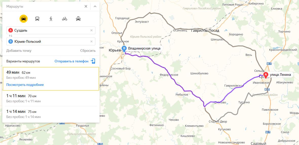 Дорога из Суздаля в Юрьев-Польский