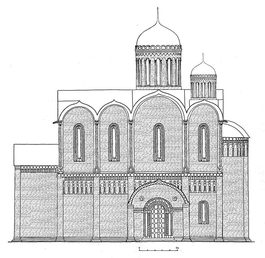 Реконструкция первоначального вида Суздальского собора начала XIII века