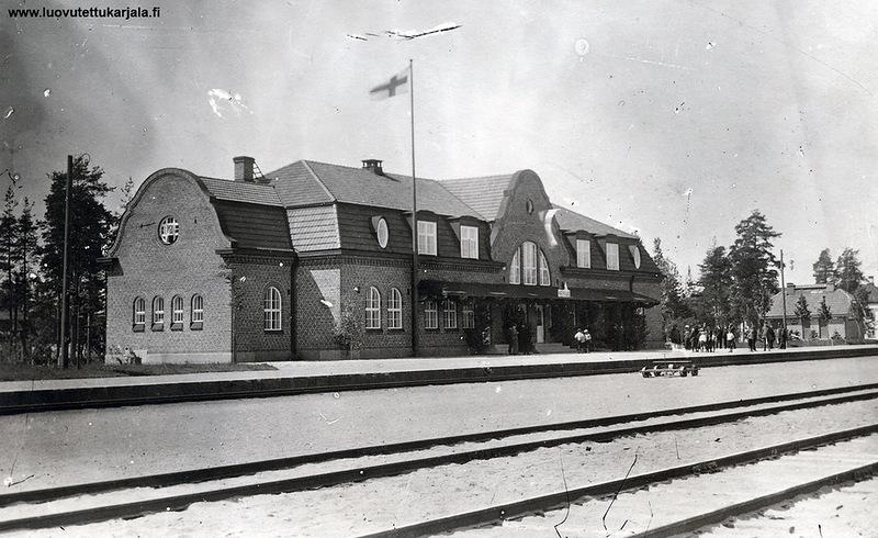 Здание железнодорожного вокзала в Койвисто