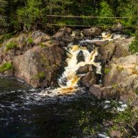 Рускеальские водопады и водопад Ахвенкоски