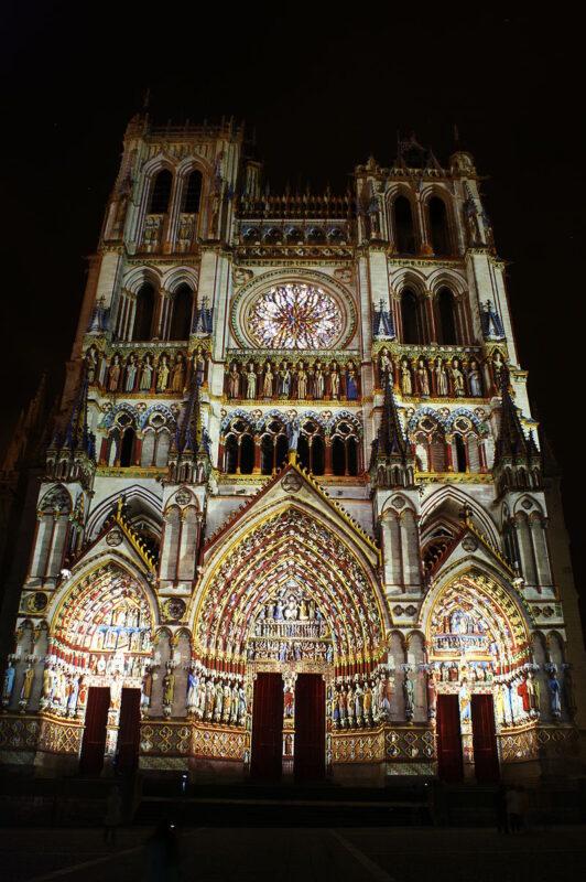 Подсветка Амьенского собора