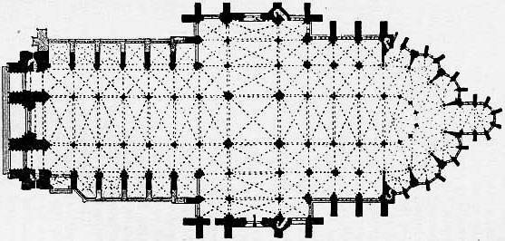 План Амьенского собора