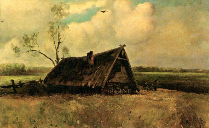 «Кутузовская изба в Филях». А.К.Саврасов, 1884 год