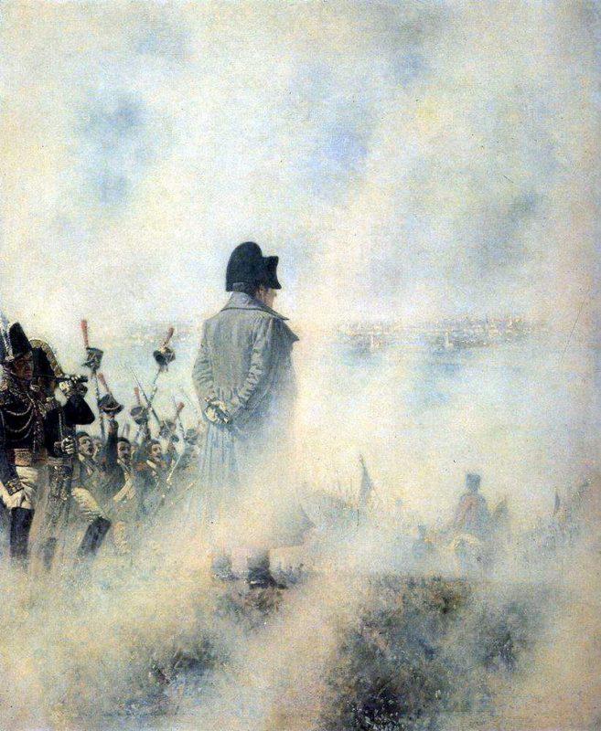"""В.В.Верещагин, """"Перед Москвою. Ожидание депутации бояр. Наполеон на Поклонной горе"""""""