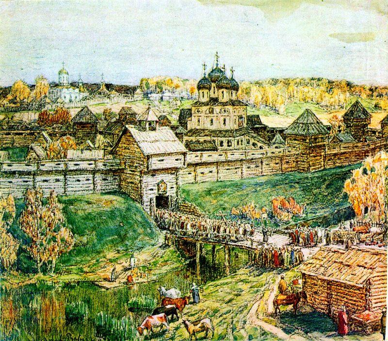 Аполлинарий Васнецов. «Дмитров в XVI веке»