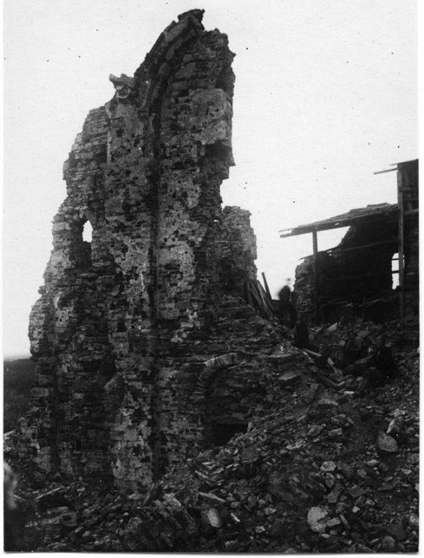 Церковь Спаса Преображения на Нередице. Послевоенные фото