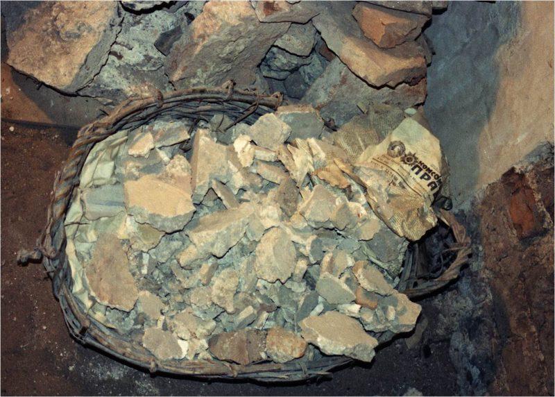 Сохранившиеся фрагменты росписи церкви Спаса Преображения на Нередице