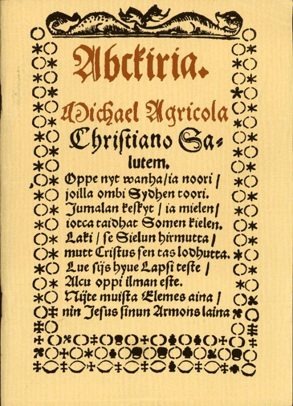 Азбука - Abckiria, Микаэль Агрикола