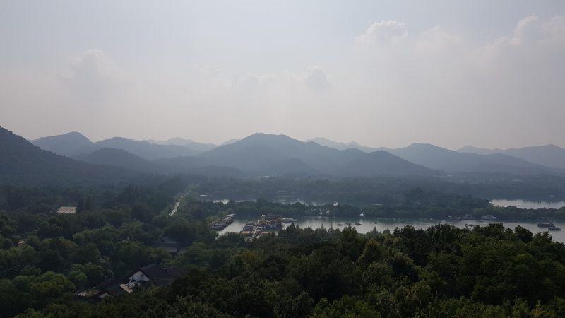 Панорама озера Сиху и окрестностей, Ханчжоу