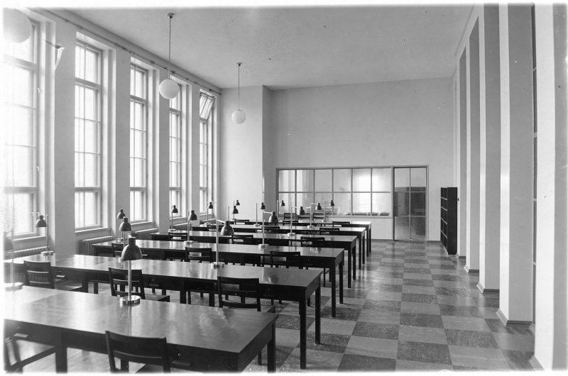 Интерьер Выборгского окружного архива в 1934 году