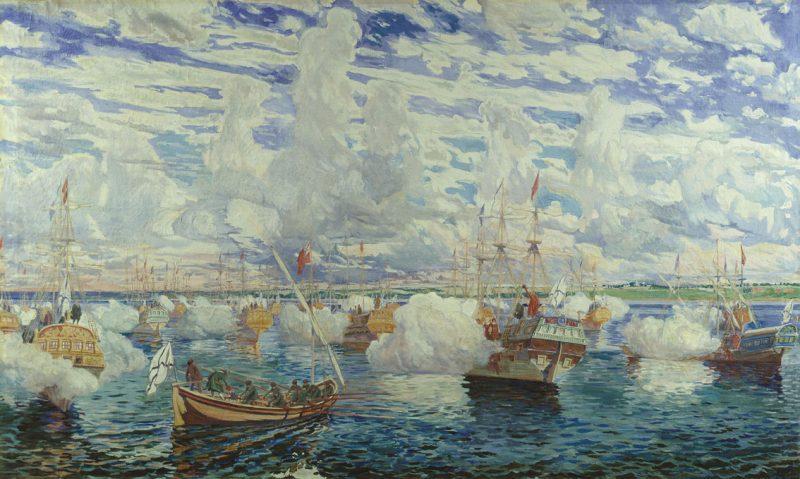 Петровская флотилия на Переславском озере 25 августа 1692 года