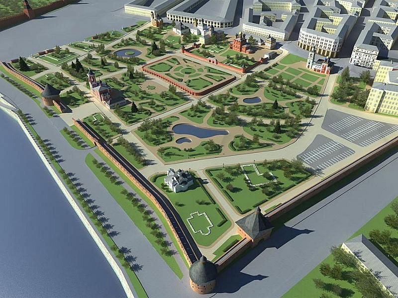 Один из конкурсных проектов, предусматривающий воссоздание Китайгородской стены