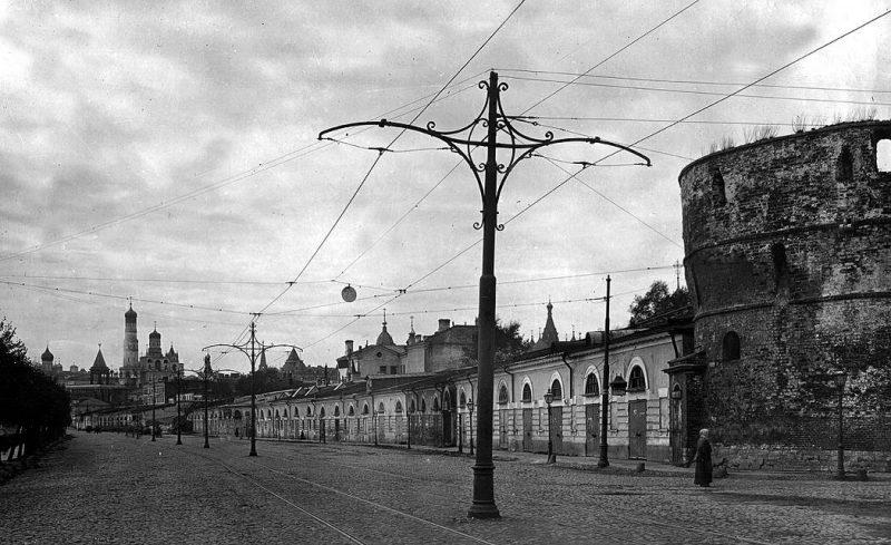 Москворецкая набережная. Вид от Китайского проезда. Фото 1918-1920 годов