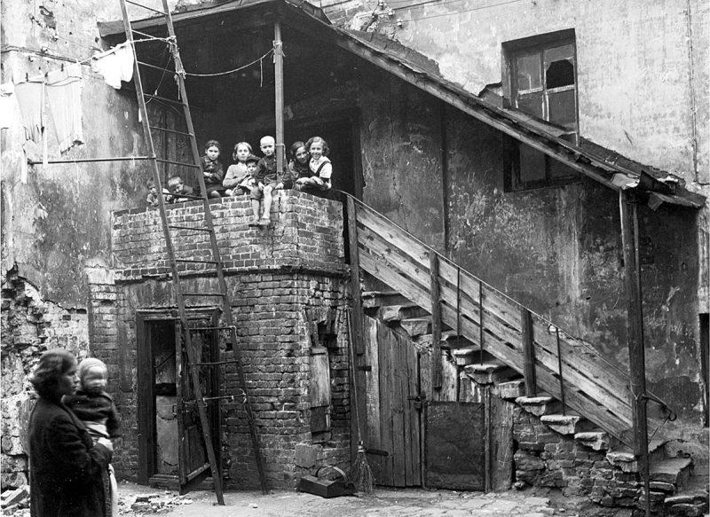 Мокринский переулок, дом № 10. Двор. Фото 1940-1941 годов
