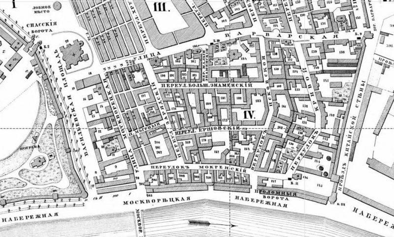 План Зарядья, 1852 год